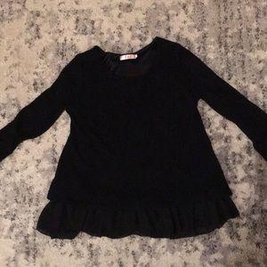 Dressy style long sleeve black shirt